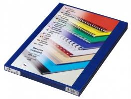Přední strana kroužkové vazby Prestige - A4, 200 my, PVC, transparentní modré, 100 ks
