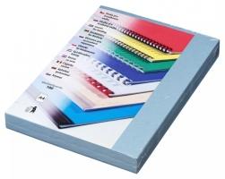 Kartonové desky pro zadní stranu kroužkové vazby Delta - A4, imitace kůže, světle modré, 100 ks