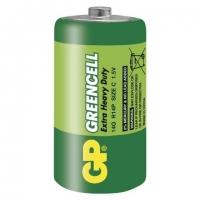 Zinkochloridové baterie GP Greencell 1,5 V - malé mono, R14, typ C, 2 ks