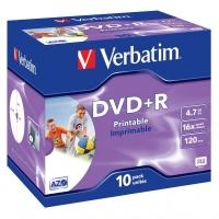 DVD+R Verbatim AZO 4,7 GB - 16x, potisknutelné, jewel box, 10-pack
