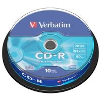 CD-R Verbatim Extra Protection 700 MB - 52x, bez možnosti potisku, cake box, 10-pack
