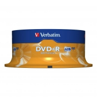 DVD-R Verbatim AZO 4,7 GB Printable - 16x, bez možnosti potisku, cake box, 25-pack