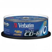 CD-R Verbatim Super AZO 700 MB - 52x, bez možnosti potisku, cake box, 25-pack