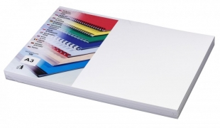 Kartonové desky pro zadní stranu kroužkové vazby Chromo - A3, leštěný povrch, bílé, 100 ks