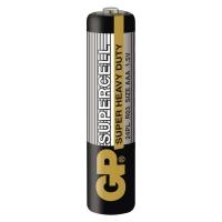 Zinkouhlíkové baterie GP Supercell 1,5 V - mikrotužka, R03, AAA, 2 ks