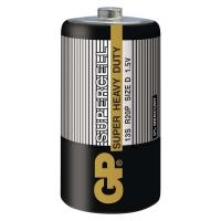 Zinkouhlíkové baterie GP Supercell 1,5 V - velké mono, R20, typ D, 2 ks - DOPRODEJ