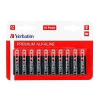 Alkalické baterie Verbatim 1,5 V - tužka, LR6, typ AA, 10 ks