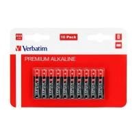 Alkalické baterie Verbatim 1,5 V - mikrotužka, LR03, typ AAA, 10 ks