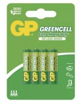 Zinkochloridové baterie GP Greencell 1,5 V - mikrotužka, R03, AAA, 4 ks