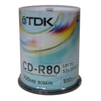 CD+R TDK 700 MB - 52x, bez možnosti potisku, cake box, 100-pack - DOPRODEJ