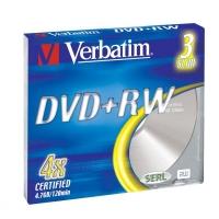 DVD+RW Verbatim  SERL 4,7 GB - 4x, bez možnosti potisku, 1 ks - DOPRODEJ