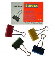 Kancelářský binder klip - 51 mm, mix barev, 12 ks