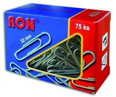 Kancelářské sponky RON 453 - 32 mm, pozinkované, 75 ks