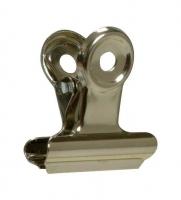 Pružinový klip - 38 mm, stříbrný, 1 ks