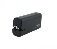 Elektrická sešívačka Deli 0488 - na baterie AA, 10 listů, plastová, černá