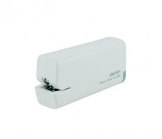 Elektrická sešívačka Deli 0488 - na baterie AA, 10 listů, plastová, bílá