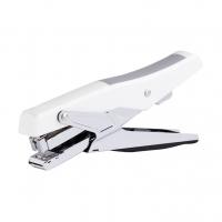 Klešťová sešívačka Deli E0329 - 30 listů, kov/plast, bílo-stříbrná