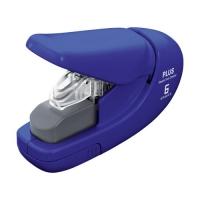 Bezsponková sešívačka Plus 106AB - 6 listů, plastová, modrá