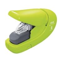 Bezsponková sešívačka Plus 106AB - 6 listů, plastová, zelená