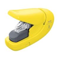 Bezsponková sešívačka Plus 106AB - 6 listů, plastová, žlutá