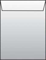 Poštovní taška C4 - s okénkem, krycí páska, 324x229 mm, bílá, 500 ks