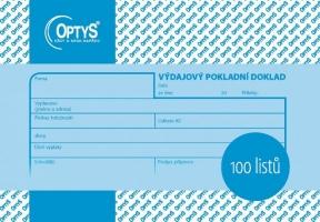 Výdajový pokladní doklad Optys - A6, 100 listů