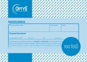 Dovolenka Optys - A6, 100 listů