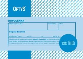 Dovolenka Optys - odpracované hodiny, A6, 100 listů