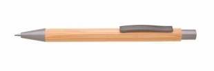 Mikrotužka Rivet - 0,5 mm, bambus/kov, natur/šedá