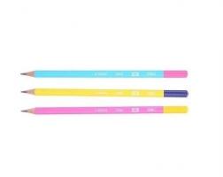 Grafitová tužka Deli U-Touch EU53000 - HB, trojhranná, mix barev - DOPRODEJ
