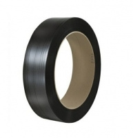 Vázací páska PP 15x0,8 mm - průměr dutinky 406 mm, 1500 m, černá