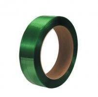 Vázací páska PET 12x0,6 mm - průměř dutinky 406 mm, 2500 m, zelená