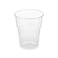Plastový kelímek 0,2 l - PET, průměr 78 mm, transparentní, 50 ks