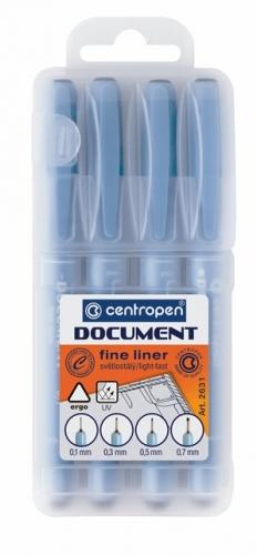 Dokumentní liner Centropen Document 2631/4 - sada 4 ks